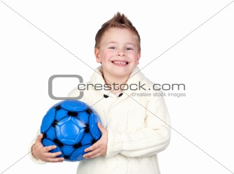 Adorable child with a ball