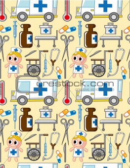 seamless hospital pattern