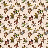 seamless cowboy pattern