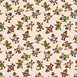 seamless cowboy pattern