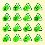 vector set of sixteen ecological icons