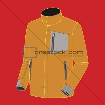 vector orange fluorescent hooded jacket