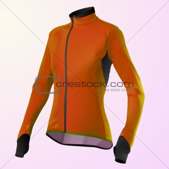 vector orange women's jacket