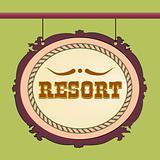 vector resort sign wild west style