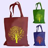 vector set of reusable shopping bags