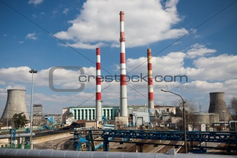 Power station on sunny day