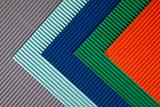 Background of colored corrugated cardboard