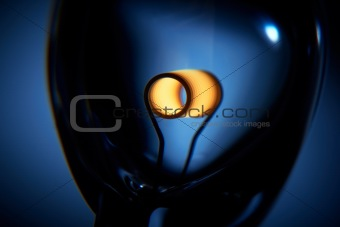 Glower is heated. Conceptual shot of incandescent lamp in blue.