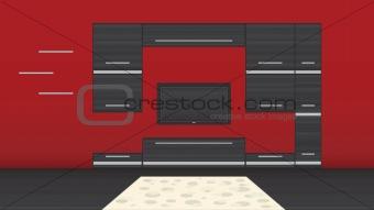 Modern room illustration