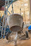 concrete mixer at construction cite