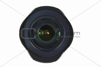 Camera Lens with Protective Hood