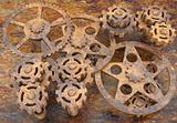 mechanism of gears rusted