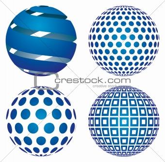 3d vector globes