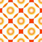 orange circles seamless pattern