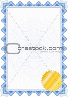 Classic guilloche border for diploma or certificate / vector/ wi