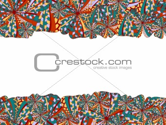 abstract seamless floral decorative background