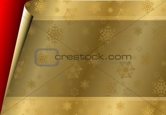 Christmas card with golden paper / pattern
