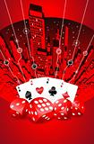 Abstract gambling illustration