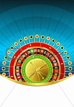 Abstract gambling background with empty space