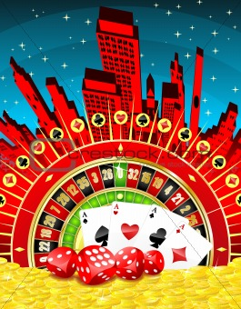 Abstract gambling city