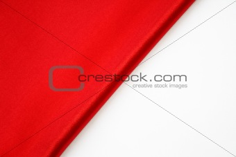 Smooth Red Silk on a white background