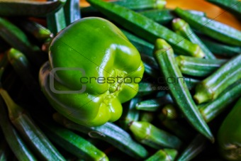 Capsicum and Ladies finger