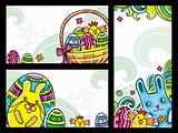 Decorative Easter floral banners 2