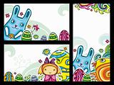Decorative Easter floral banners 1