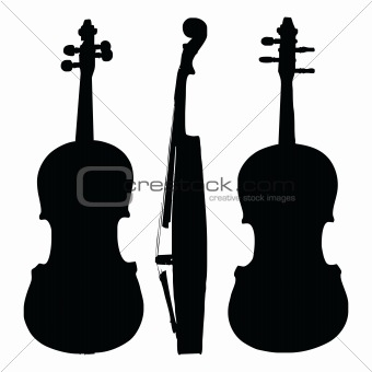 old violin silhouette sides