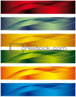 A set of banners for the design