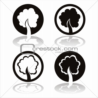 black trees signs