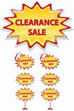 set of sale icons isolated on white - clearance sale