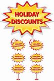 set of sale icons isolated on white - holiday discounts