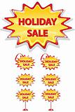 set of sale icons isolated on white - holiday sale