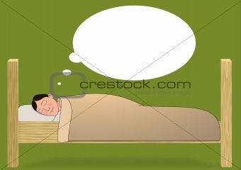 how to draw someone sleeping in bed