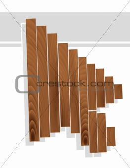 Arrow cursor in wood grain texture style