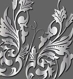 Abstract silver Butterfly. Vector