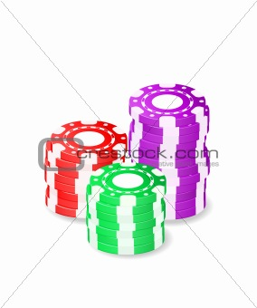 casino chips in stack