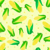 corn ears seamless pattern