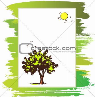 announcement form with tree