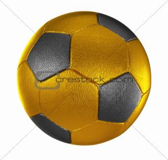 3d  gold soccer ball