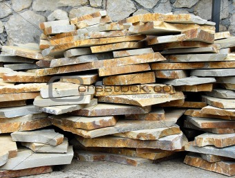 Flagstones on stack