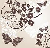 Springtime floral background