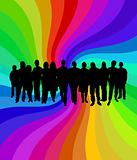 Rainbow crowd