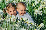 Child nd Daffodils