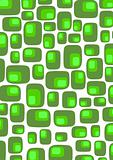 Retro green rounded squares