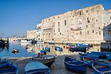 Panoramic view of Monopoli seaport. Apulia.