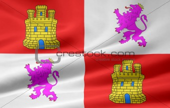 Flag of Castile and Leon - Spain