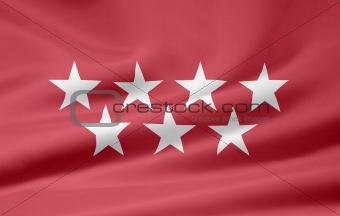 Flag of the Community of Madrid - Spain