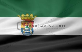 Flag of Extremadura - Spain